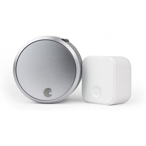 August Smart Lock Pro (3rd Gen) + Connect Hub - Silver