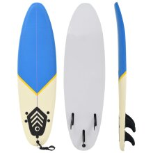vidaXL Surfboard 170cm Blue and Cream Start Buoyancy Wave Riding Surfing Board