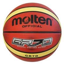 Molten GR7X Indoor Outdoor Rubber Deep Channel Basketball Ball Tan