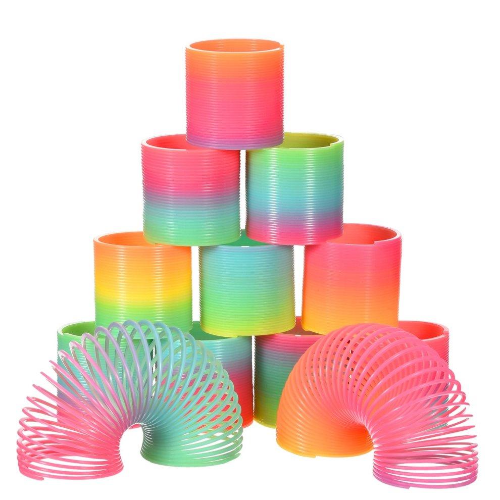 12 Pack Mini Transparent Bright Magic Springs Plastic.