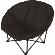 Deluxe Black Padded Folding Outdoor Camping Beach Garden Fishing Moon Chair Seat