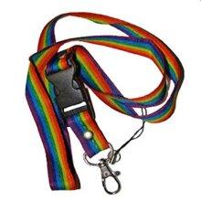 Gay Rainbow Sisters Gay Pride Lanyard