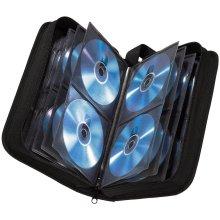 Hama CD wallet for storing 64 CDs/DVDs/Blu-rays, black,00011616