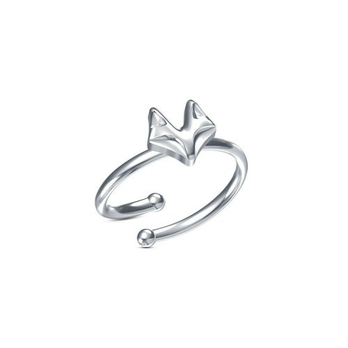 White gold plated Real 925 SilverFox Shape Openable Toe Ring
