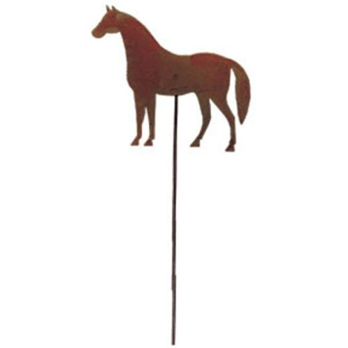 Village Wrought Iron RGS-68 Horse Rusted Stake