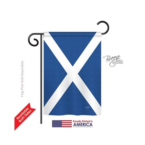 Breeze Decor 58076 St. Andrews Cross 2-Sided Impression Garden Flag - 13 x 18.5 in.