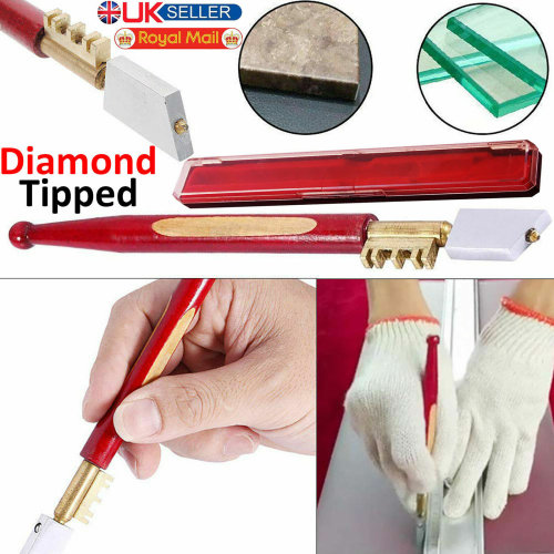 Professional Diamond Tip Glass Cutter Window Mirror Tile Glazing Tool