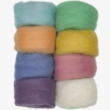 D72-74003 - Dimensions Wool Roving - Pastel 8 Pack
