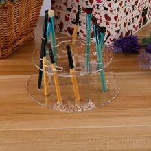 New 10 Hole Oval Makeup Brush Holder Rack Organizer Cosmetic Shelf Tool