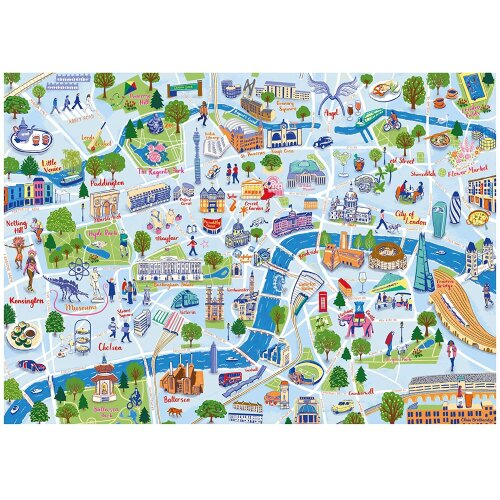 Falcon Contemporary London Sightseeing Jigsaw Puzzle (1000 Pieces)