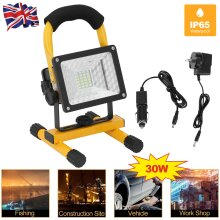 30W LED Rechargeable Flood Light Cordless Portable Camping Work Lamp