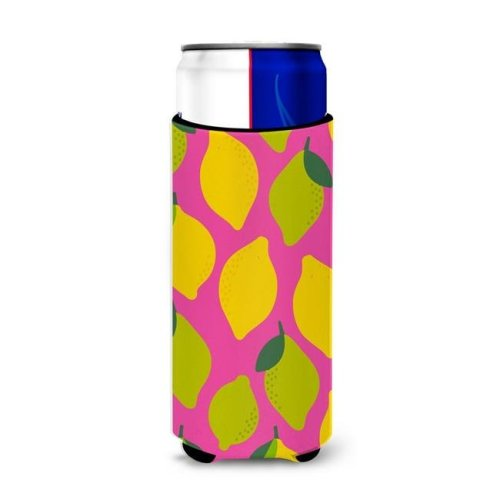 Lemons & Limes on Pink Michelob Ultra Hugger for Slim Cans