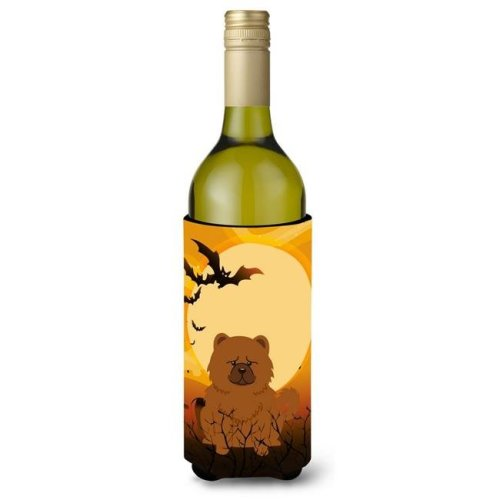 Halloween Chow Chow Red Wine Bottle Beverge Insulator Hugger