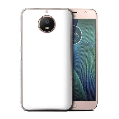 (White) Colours Motorola Moto E4 Plus 2017 Phone Case Transparent Clear Ultra Slim Thin Hard Back Cover for Motorola Moto E4 Plus 2017