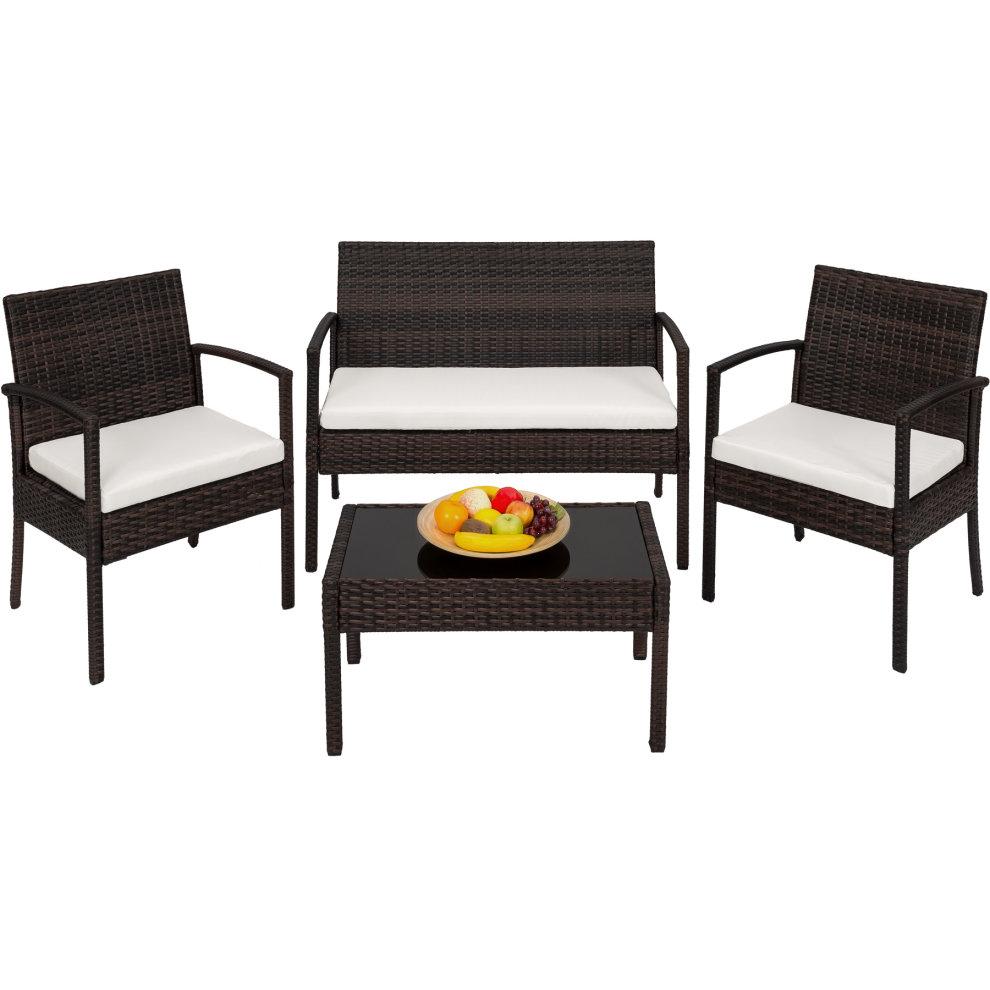 Rattan garden furniture set Sparta 3+1 black/brown on OnBuy on Sparta Outdoor Living id=49306