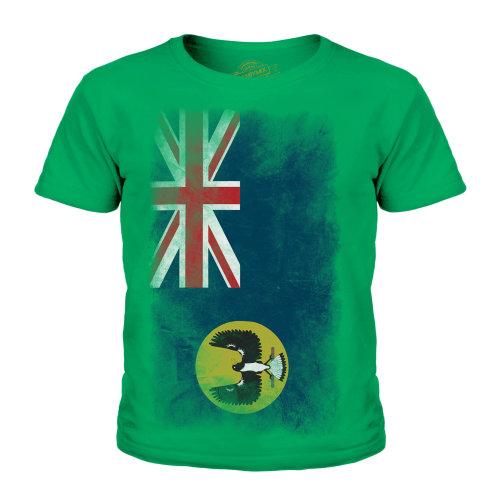 Candymix - South Australia Faded Flag - Unisex Kid's T-Shirt