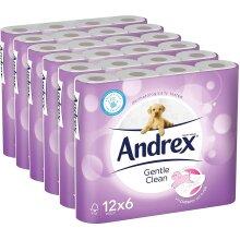 Andrex Gentle Clean 72 pcs Toilet Tissue