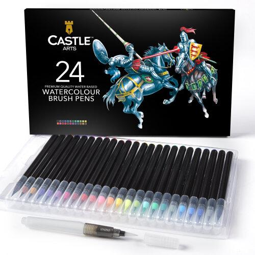 Castle Arts Watercolour Brush Pen Art Set - 24-Piece   Watercolour Pens