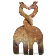 Entwined Heart Giraffe Family Cute Kissing Giraffes