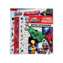 MARVEL HEROES COMIC MAKER WITH STICKERS 1 PACK 12 PAGE COMIC 4 STICKER SHEETS