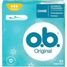 O.B.Original Normal Tampons with Ribbed Sides for Extra Protection