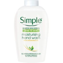 Simple Kind to Skin Moisturising Hand Wash Refill Pack No Pump, Liquid Soap with Chamomile Oil Kind To Skin Bulk 2 Month Supply (6 x 250ml) (Packaging