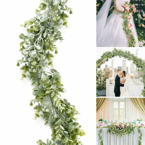 Artificial Eucalyptus Hanging Garland Plant Leaf Party Wedding Garden Decor
