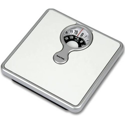 Salter Mechanical Bathroom Scales – Easy to Read Magnified Display for Weighing with Precision, Measure in St, lbs, Kg, Comfortable Cushioned...