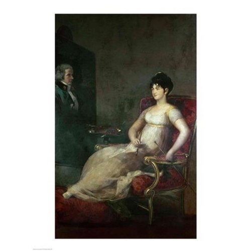 The Marquesa De Villafranca Painting Her Husband 1804 Poster Print by Francisco De Goya - 24 x 36 in. - Large