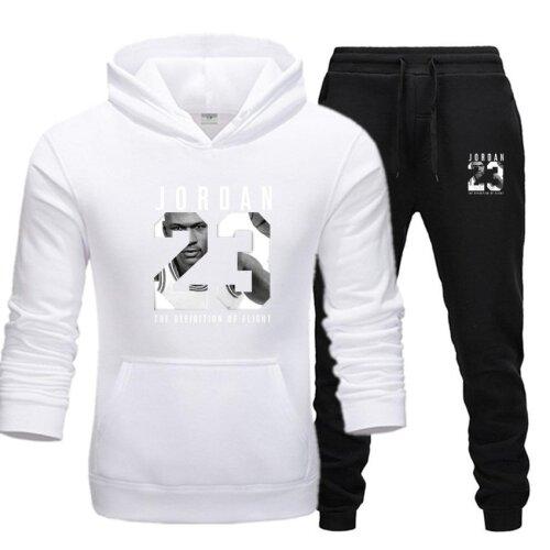 Men Jordan 23 Tracksuit Sweatshirt Fleece Hoodie+Sweatpants For Jogging/Sporting Suit