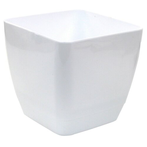 Indoor / Outdoor Square Large Plant Pots 22cm Planters White