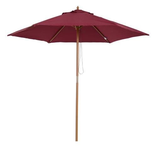 Outsunny 2.5m Wood Wooden Garden Parasol Sun Shade Patio Outdoor Umbrella Canopy