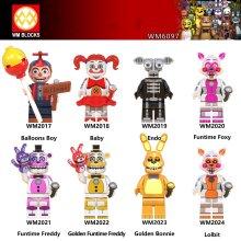 8Pcs FNAF Minifigures Skull Compatible Lego