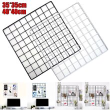 Multi-Function Metal Mesh Grid Panel Photo Wall Decor Display Organizer