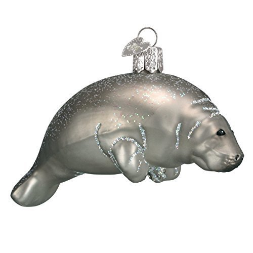 Old World Christmas Manatee Glass Blown Ornament