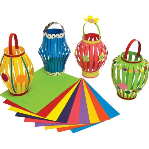 Colourful Card Lanterns Diwali Craft Activity (Pack of 30)