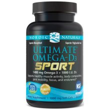 Nordic Naturals  Ultimate Omega-D3 Sport, 1480mg, Lemon, 60 softgels