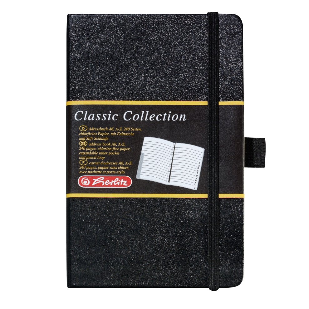 Herlitz 10791010 Adressbuch Classic Collection 2er Pack A6