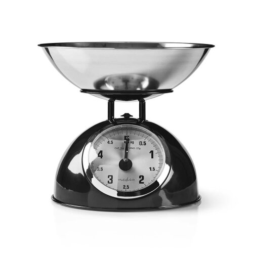 Retro Traditional Vintage Metal Mechanical Weight Baking 5kg Kitchen Scale Black