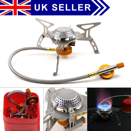 Portable Outdoor Stove Compact Camping Fishing Gas Heater Cooker
