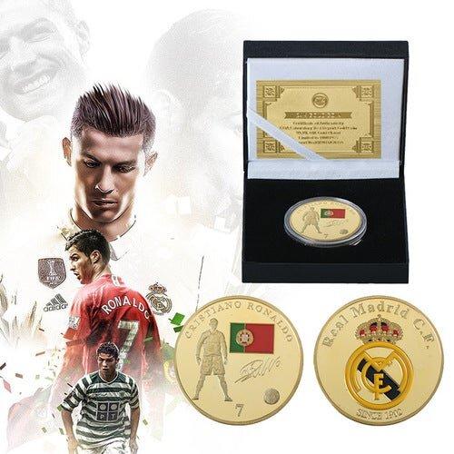 Cristiano Ronaldo Memorial Coin / Football fan  Collection Souvenir