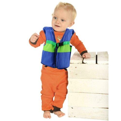 (S - 1-2 Years: 11-15 Kg) Trading Innovation Kids Children Boys Girls Life Jacket Swimming Floating Swim Zip Vest Jacket (Navy Blue)