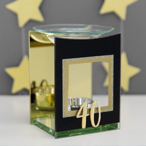 Signography Gold Glitter Glass Oil Burner - 40