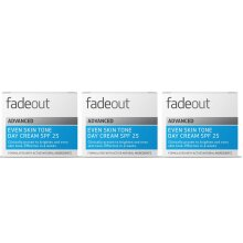 Fade Out Advanced Even Skin Tone Day Cream with SPF25  3 x 50ml - Face Cream With Niacinamide and Lactic Acid to Brighten Skin tone in 4 weeks - Trio