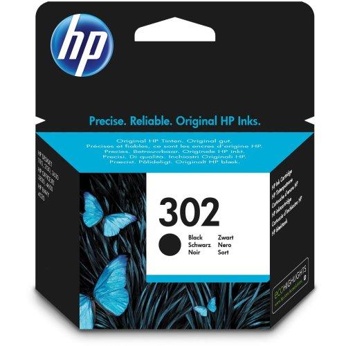 HP 302 Black Original Ink Cartridge (F6U66AE)