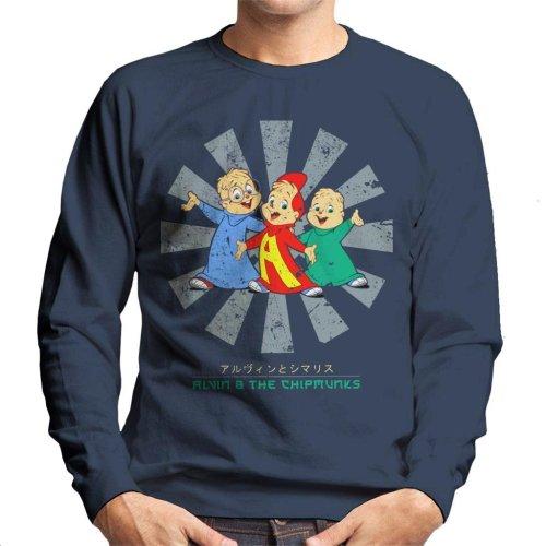 Alvin And The Chipmunks Retro Japanese Men's Sweatshirt