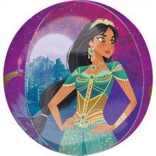 foil balloon Aladdin junior 38 x 40 cm purple