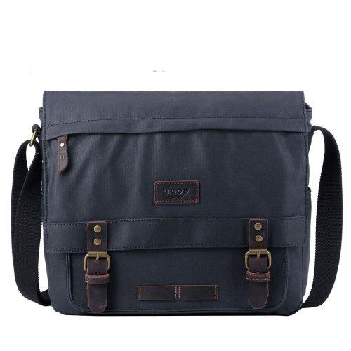 TRP0494 Troop London Classic Canvas Messenger Bag | Buy Bags Online | Canvas Messenger Bags | leather canvas backpack