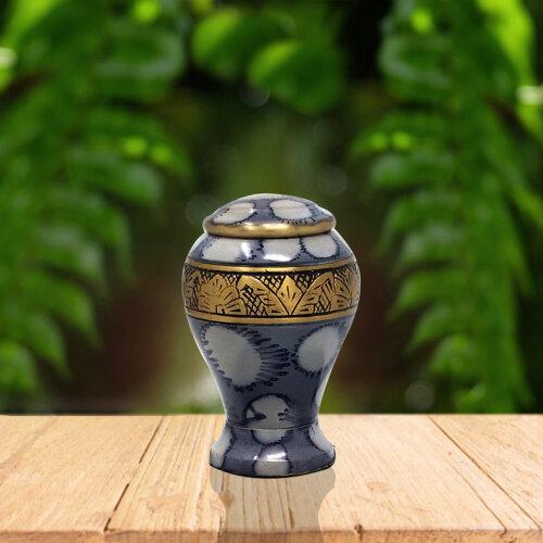Beautiful Leaf Band Small Keepsake Memorial Urn For Human Ashes