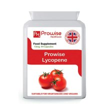 Lycopene 10% Beadlet 15mg 90 Capsules, UK Made GMP Guaranteed Quality, Suitable for Vegetarians and Vegans by Prowise Healthcare